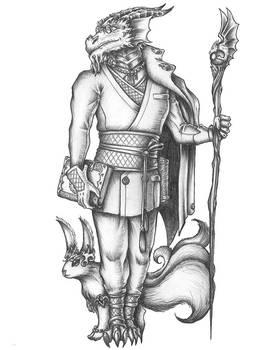 [COMMISSION] Cenxad Balthazar - Dragonborn Wizard by s0ulafein