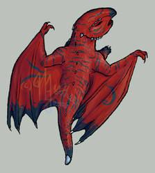 Hatchling fire dragon. by Mythee