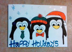Holiday Card Project 2013 - Larry, Perry and Gary by VioletteOwl