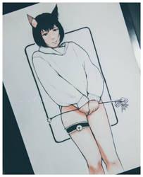 Day 6 - Black Cat by shiraishiku