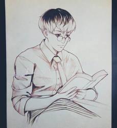 Inktober Day 9 - Book (TG:re) by shiraishiku