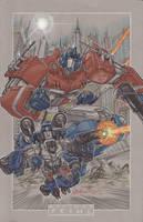 commission optimus prime by markerguru