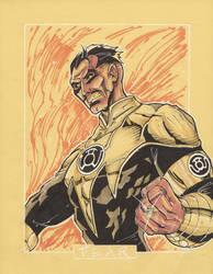 Commission Sinestro by markerguru