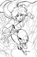 Commission Powergirl by markerguru