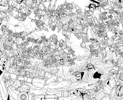TFcon 2009 poster lineart by markerguru