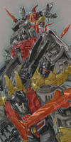 Dinobots Ahoy by markerguru