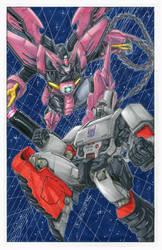 Megatron vs Epyon by markerguru