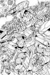 War for Cybertron lineart by markerguru