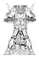 rodimus prime commission by markerguru