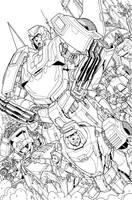 86 autobots tribute lineart by markerguru