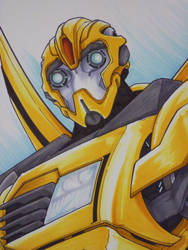 TF Prime Bumblebee commission by markerguru
