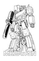 Megatron commission lineart by markerguru