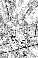 TF MTMTE 10 cover lineart by markerguru
