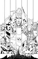 TF MTMTE 2012 annual cover lineart by markerguru