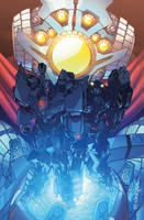 Transformers Lost Light issue 4 Sub cover colours by markerguru