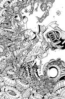 Transformers Lost Light issue 6 Sub cover lineart by markerguru