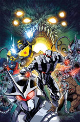 ROM vs Transformers issue 1 cover colors by markerguru