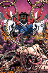 ROM vs Transformers issue 2 cover colors by markerguru