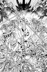 ROM vs Transformers issue 5 cover by markerguru