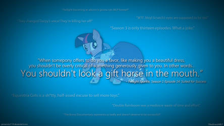 You Shouldn't Look a Gift Horse in the Mouth. by OliveBranchMLP