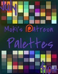 July Patreon Palettes by Mokisaur