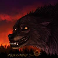Burning skies by Dalkur