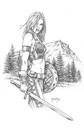 Athala, Barbarian Warrior by MitchFoust