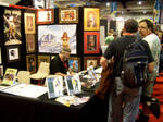 Working at SDCC 2010 by MitchFoust