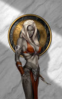 Last Respects   Drow Maiden by MitchFoust