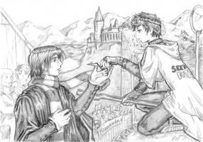 Harry gives Prof. Snape a Snitch by knuddelmuff82
