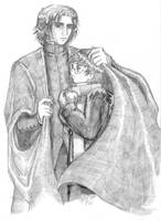 Harry Potter and Severus Snape in the cold by knuddelmuff82