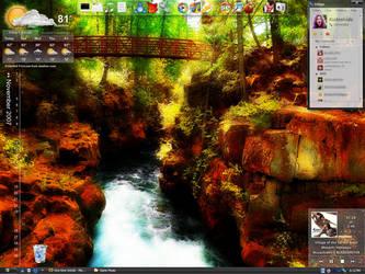 Rogue River Gorge desktop by Kudoshido