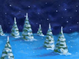 Snowy trees by Kudoshido