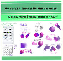 Manga Studio 5/ clip studio default SAI BRUSH by MissChroma