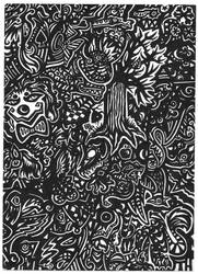 Black and White Pen doodle by Copycat-Misfitz