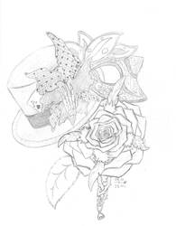 The Hat, the Rose, and the Mask by Copycat-Misfitz