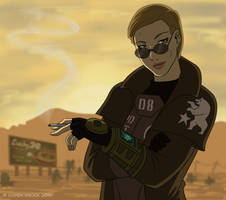 Fallout:New Vegas - My Courier by EtyrnalOne