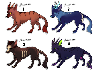 Demon Dog Adoptables by AnneDyari