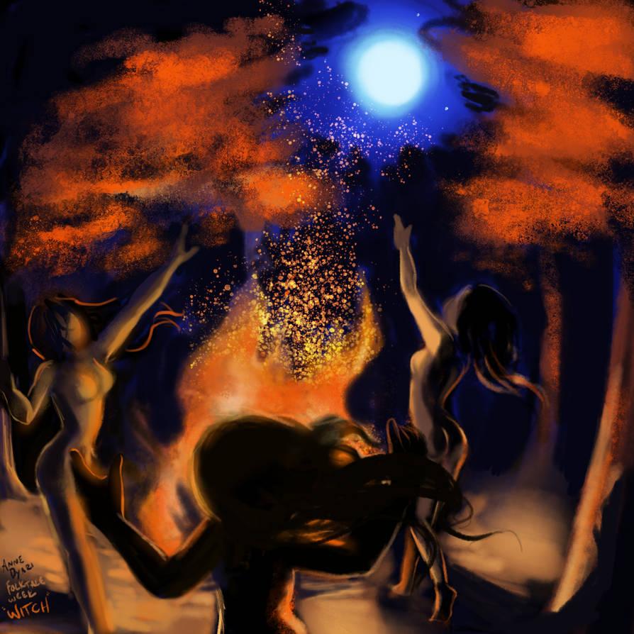 Folktale Week Day 3: Witch by AnneDyari