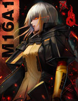 Silver-Haired War Machine-M16A1 by X-kulon