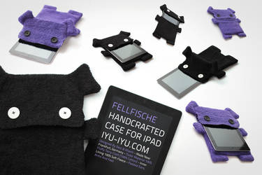 Fellfische - Handcrafted Monster Cases For Ipad by IYU-IYU