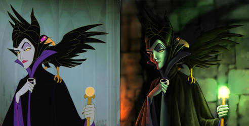 Disney Maleficent Paintover by paris60