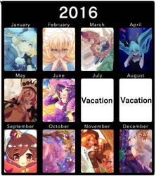 2016 Art Summary by Bamoh-cchi