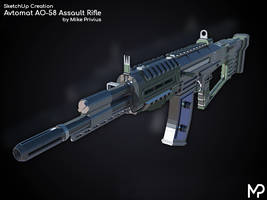 [SketchUp] Avtomat AO-58 Assault Rifle by MikePrivius