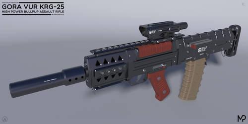 [SketchUp] Gora Vur KRG-25 Assault Rifle by MikePrivius