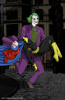 Joker escapes with Batgirl com by mhunt