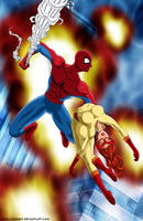 Spidey to the rescue -commissi by mhunt