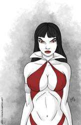 Vampirella  for Inktober #4 by mhunt