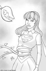 Supergirl - Inktober #6 by mhunt