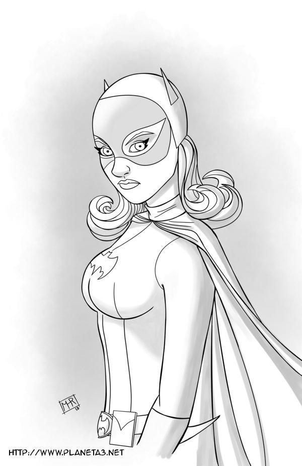 Batgirl - Inktober #9 by mhunt